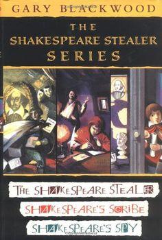 The Shakespeare Stealer Series: The Shakespeare Stealer / Shakespeare's Scribe / Shakespeare's Spy by Gary Blackwood http://www.amazon.com/dp/0525473203/ref=cm_sw_r_pi_dp_mKaeub1XZ3CGE