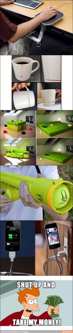 "I happen to know that the tennis ball gun is real, but I want to know if the ""build a room"" thing is real, because I want one!"