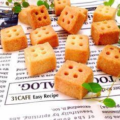♡サラダ油でサクホロクッキー♡塩バニラキューブ♡簡単*節約♡