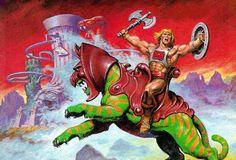He-Man & Battlecat Art by Earl Norem