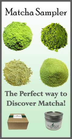 "What is this ""matcha"" and why is there such a craze? Wonder no more with our Matcha Sampler! Explore the different grades and types of matcha from Ceremonial to Sweet! #matcha"