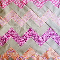 Chevron pattern with no triangles - A free tutorial | DreamPatch