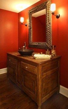 color schemes: brown, dark orange, white in the bathroom | Master ...