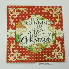 Sizzix, flip it, christmas card, quietfire, graphic 45, spellbinders, memory box