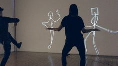 EGO – Klaus Obermaier with Stefano D'Alessio & Martina Menegon (kinect + projected body shapes)