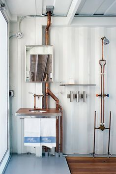 container home plumbing