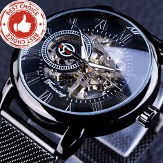 Men's Watches Forsining Golden Mens Watches Top Brand Luxury Mechanical Skeleton Dial Mesh Strap Fashion Urban Dress Wristwatches 2019 Bracing Up The Whole System And Strengthening It
