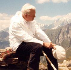 Pope John Paul II, out on a hike.