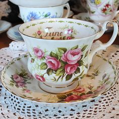 Royal Albert Bone China Teacup and Saucer June