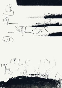 Experimental calligraphy and asemic writing - by mila blau