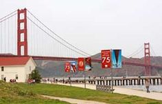Celebrate the Anniversary of the Golden Gate Bridge at this Sunday's Golden Gate Festival Golden Anniversary, Marin County, Hiking Trails, Golden Gate Bridge, Bay Area, Marines, Explore, Places, Travel