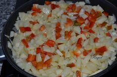 Mi Diversión en la cocina: Tortilla de Patatas Brocoli y Pimiento rojo