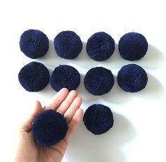 Pom Pom 2 inches Set of 10 pieces Navy Blue pom pom