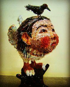 #인면조 #seiren #artworks #paper #sculpture #yooyoungwun #유영운  90×100×150Cm