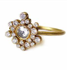 Twinkle, twinkle. Laurie Kaiser diamond Sprinkles Ring.