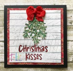 Christmas Kiss, Frame, Projects, Home Decor, Picture Frame, Log Projects, Blue Prints, Decoration Home, Room Decor