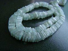 1/2 StrandBlue Aquamarine Heishi Cube Beads by norah62 on Etsy, $30.99