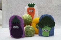 Vegetable Medley Finger Puppets