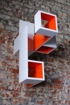 Brantt - 80 x 40 x 70 cm., high gloss paint on MDF Conceptual Model Architecture, Architecture Collage, Geometric Sculpture, Plaster Art, Cube Design, Concept Diagram, Workplace Design, Art Deco Furniture, Diy Home Crafts