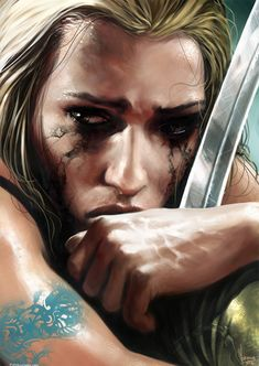 You must understand, the girl in the picture is NOT weak. She has fought hard, and lost all her friends in battle. It is not weakness to cry. To cry, shows you have been strong for a long time. And crying will give you strength to go on, even when your mind and body tell you not to.