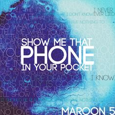 """My favorite lines from Maroon 5's """"In Your Pocket"""""""