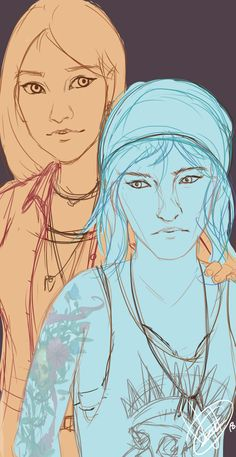 """bowhatelse-art: """"WIP Aaa I just finished both the Life is strange games and I love Chloe and Rachel so much! """""""