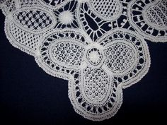 Bobbin and Needlelace has been made in Devon since, at least, the early century. Needle Lace, Bobbin Lace, Point Lace, Crochet Necklace, Stitch, Tape, Luxury, Check, Full Stop