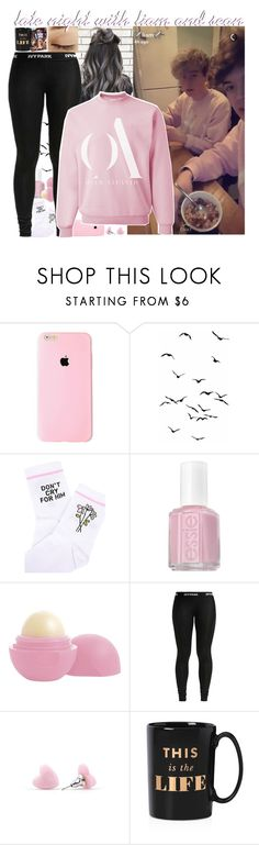 """""""late night with liam and sean"""" by roxouu ❤ liked on Polyvore featuring Yeah Bunny, Essie, Eos, Kate Spade, byroxouu and overatlantic"""