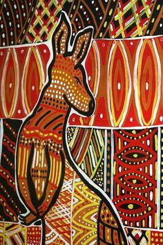 Aboriginal Art Kangaroo | Kangaroo Art | Flickr - Photo Sharing!