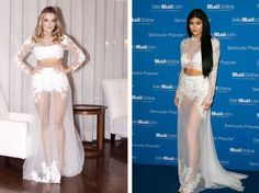 Ex malhação e Kendall Jenner  par de jarros / vasos, vestido