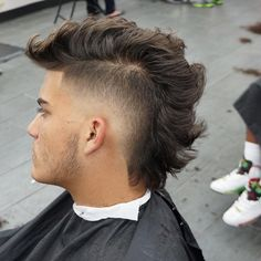 Best Hairstyles For Men with Thick Hair Thick Haircuts - Faux Hawk Fade - Best Hairstyles For Men: Cool Men's Haircuts For Thick HairThick Haircuts - Faux Hawk Fade - Best Hairstyles For Men: Cool Men's Haircuts For Thick Hair Dreadlock Hairstyles For Men, Hairstyles Haircuts, Thick Haircuts, Curly Mohawk Hairstyles, Black Hairstyles, Straight Hairstyles, Mullet Haircut, Mullet Hairstyle, Haircut For Thick Hair