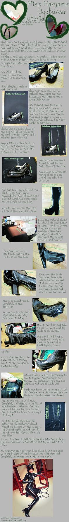 Sewingstuck - Bootcover Tutorial by Mostflogged.deviantart.com on @deviantART might use this for a friend's thief god tier cosplay