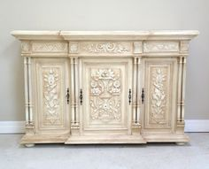 French style - Highly decorative  Antique French sideboard / painted & distressed / Frenchfinds.co.uk