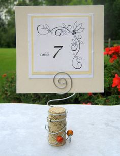 #CupcakeDreamWedding Cork table card holders