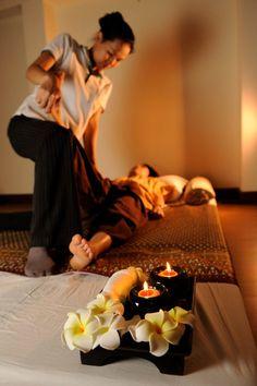 Traditional Thai massage techniques.