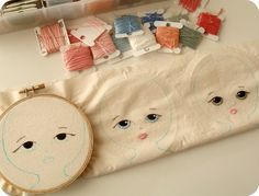little ladies in progress by Gingermelon (check out her blog for the cutest softies and cloth dolls)