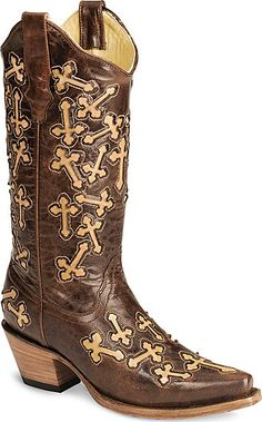 Corral Cross Inlay Cowgirl Boots