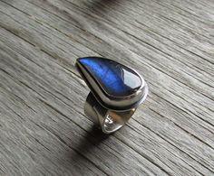 Labradorite Gemstone with Blue Flash by Quiet Time Jewelry