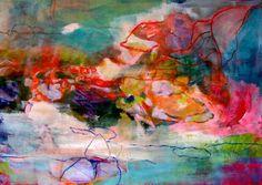 "Saatchi: Stephanie Nückel; Paper, 2011, Mixed Media ""rainbowland"" #colorful #abstract #art"