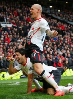 Martin Skrtel and Luis Suarez on Liverpool FC