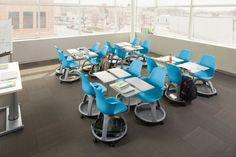 Variabilné sedenie - stolička Node od výrobcu Steelcase