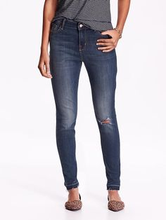 Perfect jean for Fall wear... High-Rise Rockstar Distressed Jeans