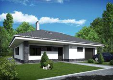 Malý moderný domček s garážou a bazénom - Gema