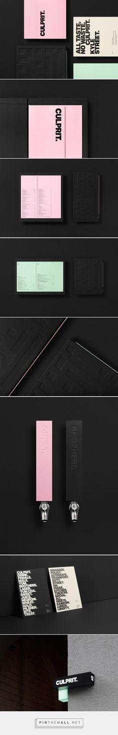 New Brand Identity for Culprit by Studio South — BP&O http://bpando.org/2017/01/02/branding-culprit/ Typo : Aktiv Grotesk - Extra Bold. - created via https://pinthemall.net