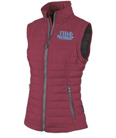 Pi Beta Phi Arrow Quilted Vest from GreekGear.com