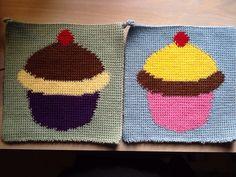 Cupcakes Dubbelvirkade grytlappar Double-thick potholder