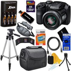 Fujifilm FinePix S4800 16.0 MP Digital Camera with 30x Optical Zoom Lens + 4 AA Batteries with Quick Charger + 11pc Bundle 32GB Deluxe Accessory Kit w/ HeroFiber® Ultra Gentle Cleaning Cloth - http://bestcamerasforphotography.bgmao.com/fujifilm-finepix-s4800-16-0-mp-digital-camera-with-30x-optical-zoom-lens-4-aa-batteries-with-quick-charger-11pc-bundle-32gb-deluxe-accessory-kit-w-herofiber-ultra-gentle-cleaning-cloth/