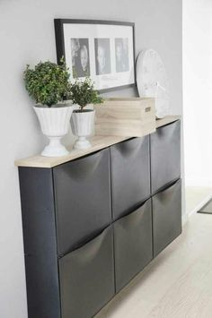 Ikea Hack: Need storage in a narrow space like a hallway?