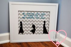 FrozenElsaAnnaOlafSilhouette8x10 Printable wall by LoveFamilyHome