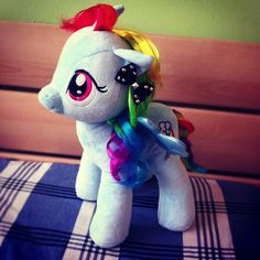 My Rainbow Dash from Build A Bear Workshop! (RAMBO DASHIE PIE) hehe